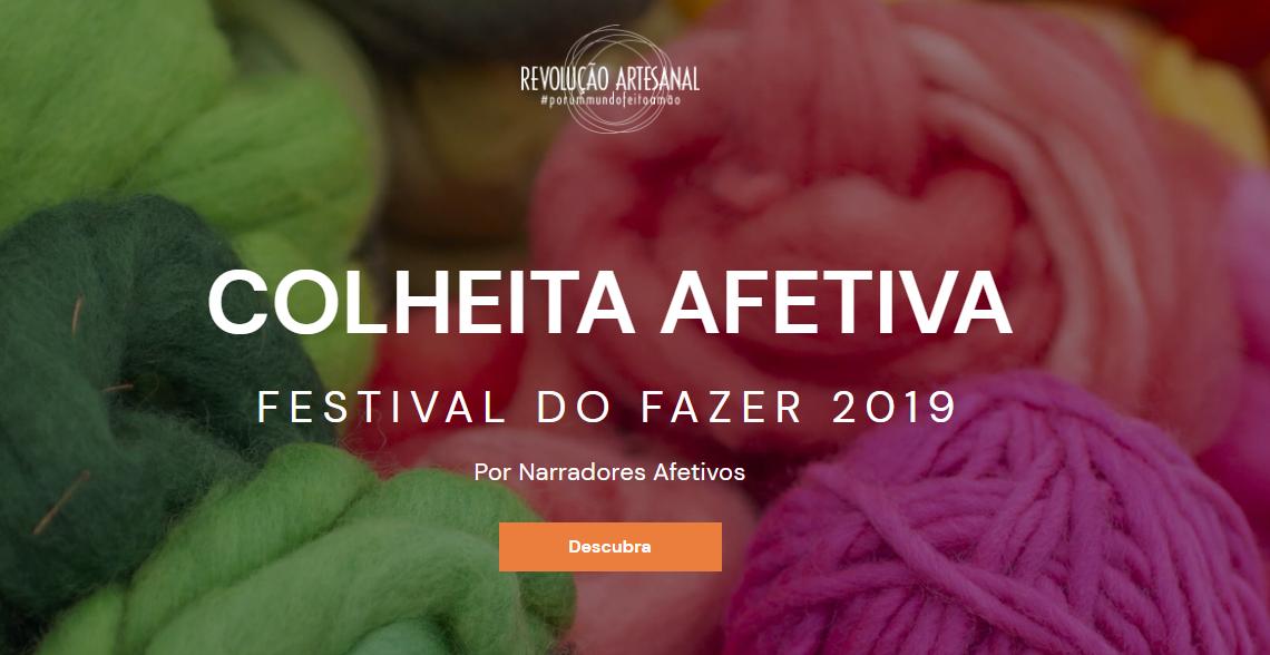 Festival do Fazer publica colheita de textos feita pelos Narradores Afetivos