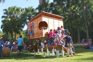 Erê Lab inaugura espaço lúdico permanente com piquenique no Largo da Batata