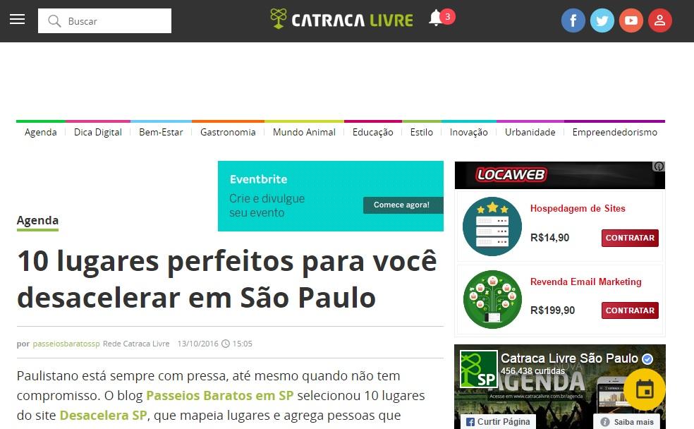 10 lugares perfeitos para você desacelerar em São Paulo