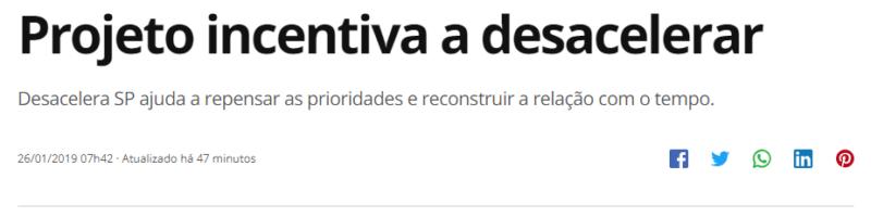 """Desacelera SP é destaque no programa """"Como Será?"""" (TV Globo)"""